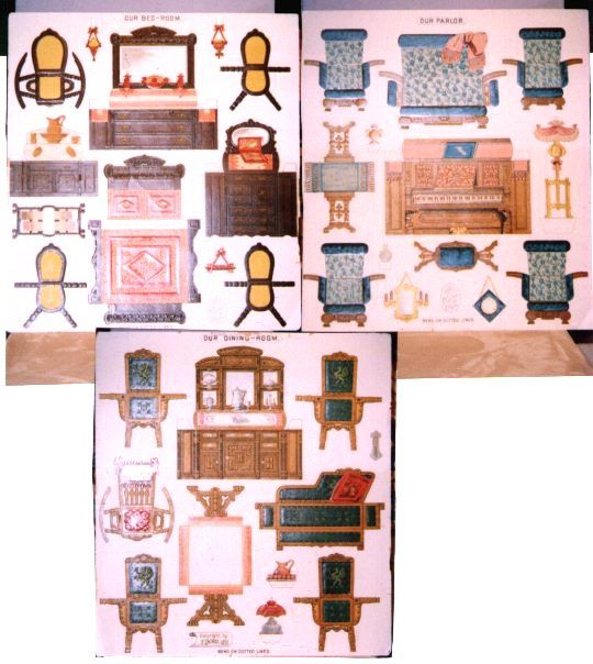 paper cutouts for furniture | paper dollhouse furniture ...