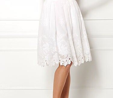 White lace summer skirt
