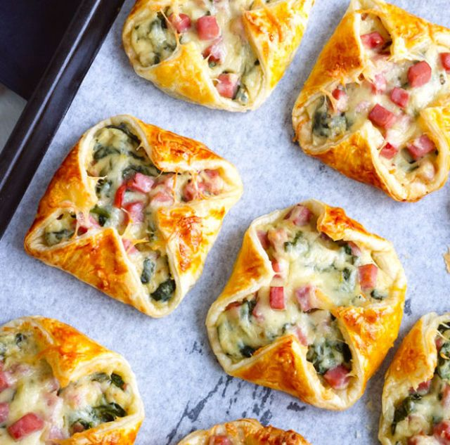 No Morning Is Complete Without Ham And Cheese Spinach Puffs