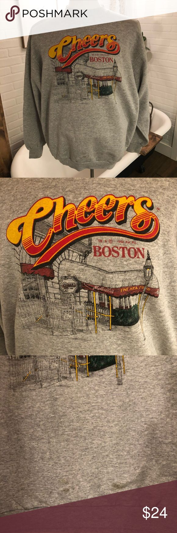 "Vintage Cheers TV Show Boston Sweatshirt Great vintage sweatshirt! Only flaw, small stain at bottom-I included pic. Size XL Measurements: Pit to pit-25"" Collar to bottom-28"" Shirts Sweatshirts & Hoodies"