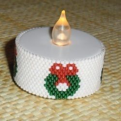Wreath Tealight Cover Bead Pattern