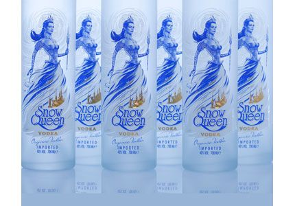 Snow Queen Vodka is produced in Kazakhstan from organic wheat