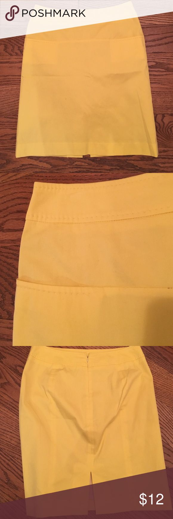 Lemon yellow skirt Mid thigh 98% cotton and 2% Lycra straight skirt by teen flow. Company new name is Judith and charles. Barely worn. Small slit in back. Slit front pockets. Great for spring/summer for work teen flow / judith and charles Skirts Midi