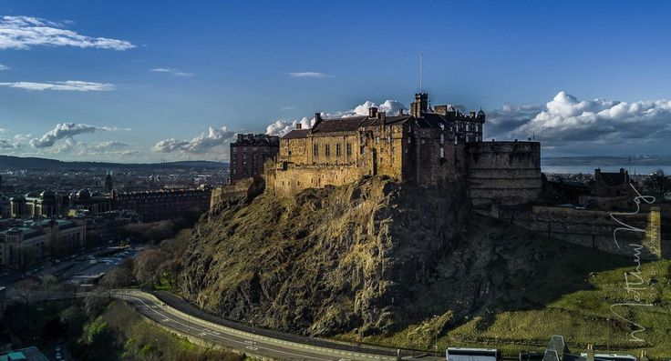 Edinburgh #Castle from a slightly different angle but never the less just as impressive!