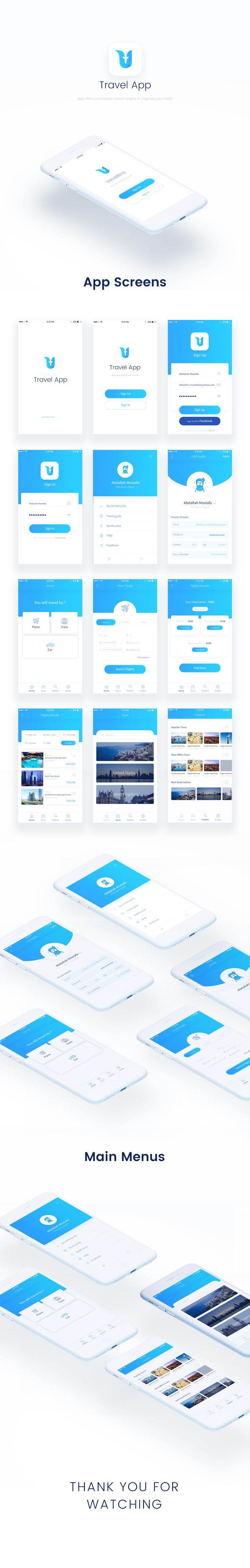 Travel App UX/UI Design on Behance