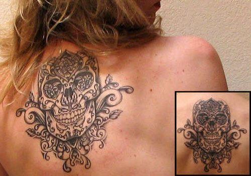 25 Best Skull Tattoos For Girls | CreativeFan