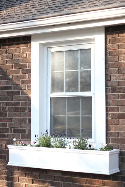 DIY Window Planters Filled with an Edible Garden