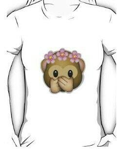 Emoji Monkey Flower Crown T-Shirt $22.40