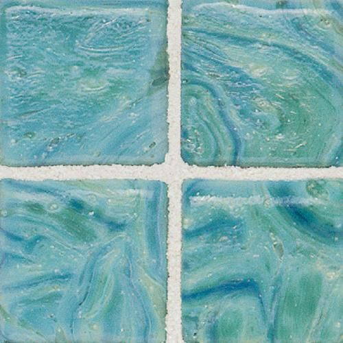 shop for the daltile verde sonterra collection iridescent glass mosaics tile verde x and save