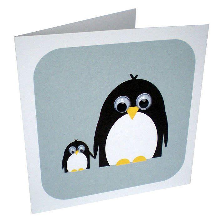 Пингвин на открытке