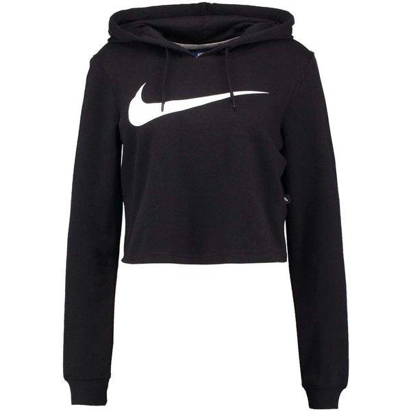 Nike Sportswear Sweatshirt black/black/white ❤ liked on Polyvore featuring tops, hoodies, sweatshirts, black and white sweatshirt, nike, black white top, nike sweatshirts and white and black top