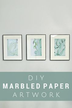 Marbling Paper with Nail Polish: Easy and cheap artwork for your walls! - Mad in Crafts