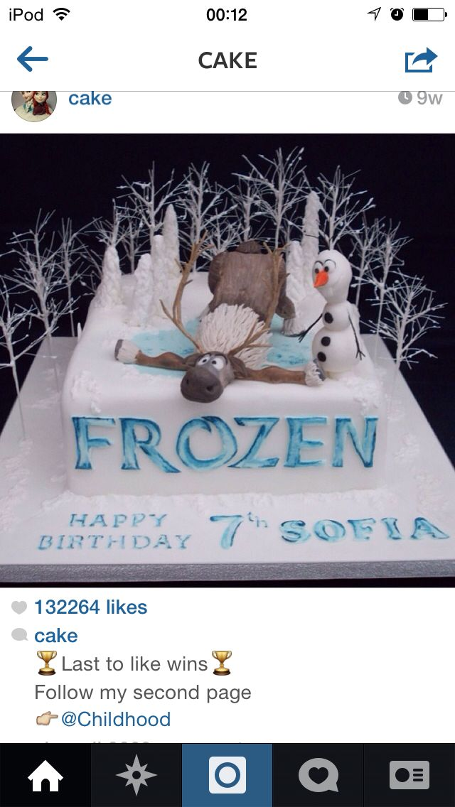Everyone loves frozen!!! But this is a cake :o