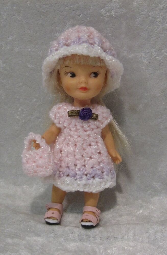 Crochet Dress /& Hat Set Made to fit STRAWBERRY SHORTCAKE #23 Handmade Clothes