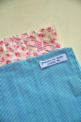 opa´s zakdoek nooit meer foetsie in het verzorgingstehuis dankzij labels van Nominette
