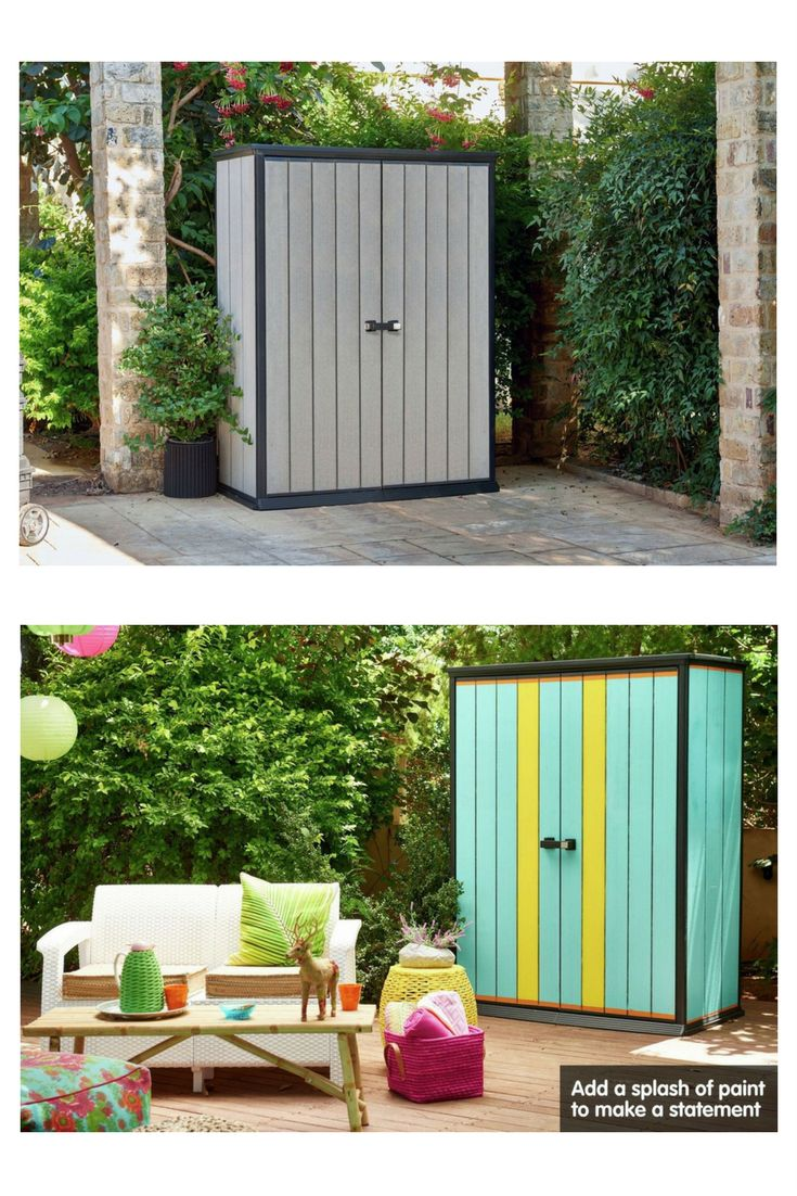 Small Outdoor Storage Units. Keter Garden Store. Low Maintenance,  Weather Resistant,