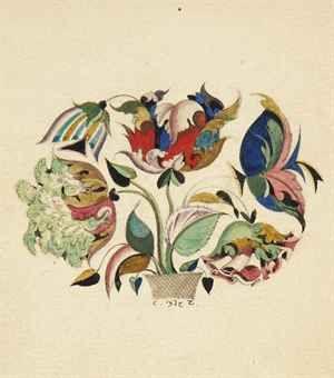 Sergei Chekhonin (1878-1936) | Bouquet of flowers | Russian ...