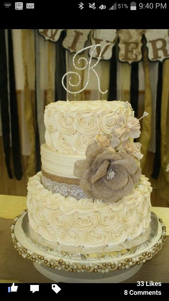 50th anniversary cake by Rita Bridges. Isn't it gorgeous?