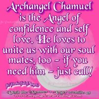 "∆ Archangel Chamuel...Name meaning: ""He who sees God"" Will help you with love, confidence and career matters. Chamuel can lift you from the depths of sorrow and find love in your heart. Chamuel helps us to renew and improve existing relationships as well as finding our soul mates. He works with us to build strong foundations for our relationships (as well as careers) so they're long-lasting, meaningful and healthy. Crystal affinities: Fluorite and Rose Quartz."