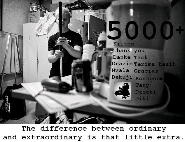 5000 Facebook Likes 13.12.2012
