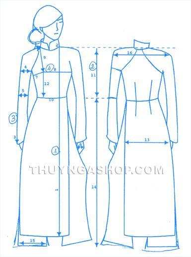 measure ao dai male models picture