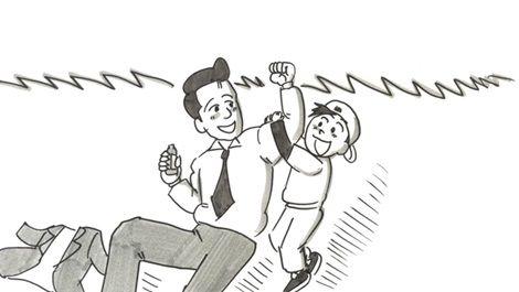 鉄拳のパラパラ漫画『取り戻せ、自分』お父さんの苦労編