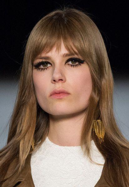 #Farbberatung #Stilberatung #Farbenreich mit www.farben-reich.com Maquillage 60's au défilé Saint Laurent Automne-Hiver 2014-2015 #SHLSjustplainbabes