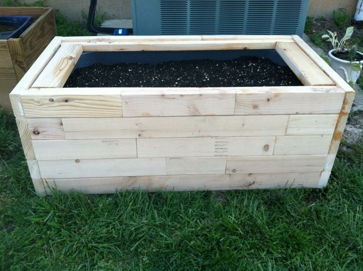 Planter Box Made Out Of 2x4 Scraps Pallet Projects Diy Garden Scrap Wood Projects Wood Projects