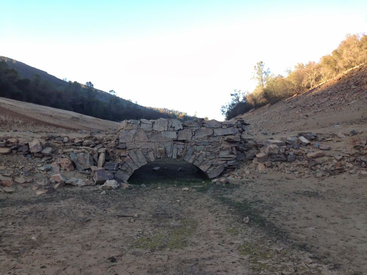 mormon island folsom lake | thoughts-of-dave: History Exposed as Folsom Lake Water Level Drops