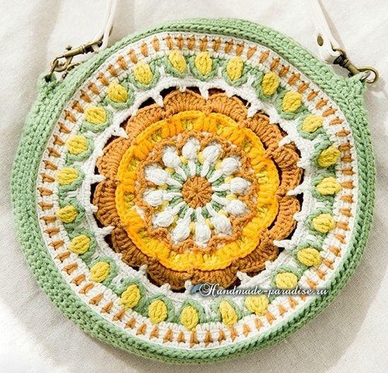 Вяжем крючком круглую сумочку «Мандалу» (1) (549x528, 372Kb)