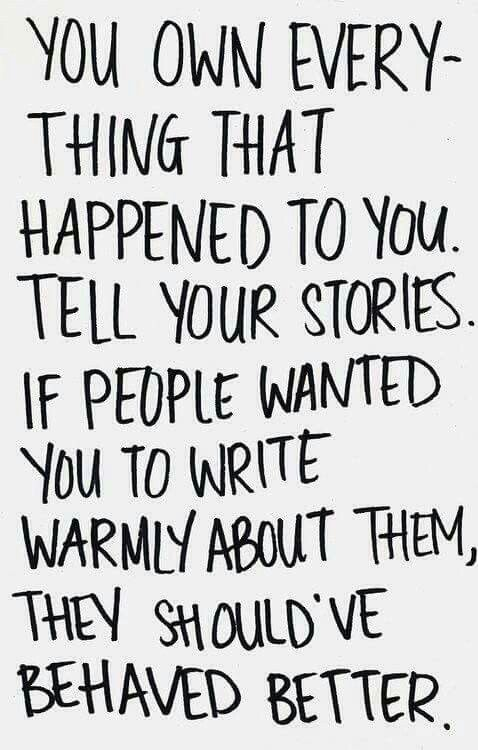 Don't be ashamed of your story