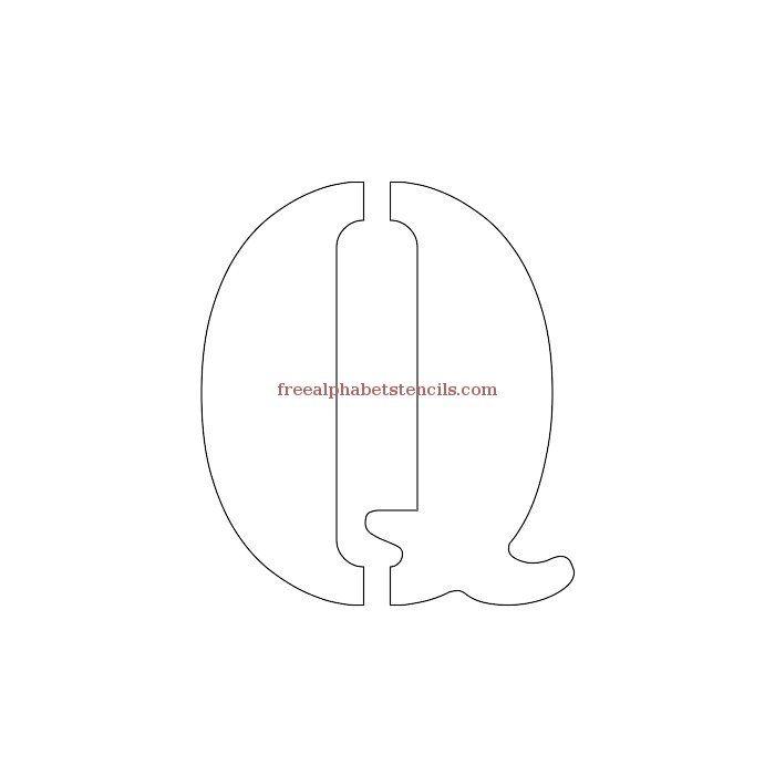 Uppercase Alphabet Stencil Q