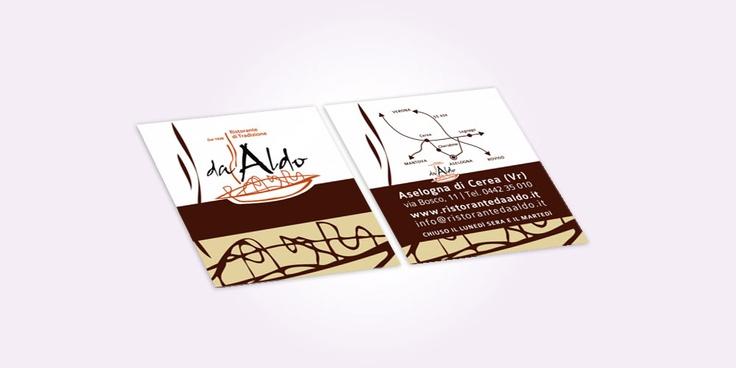 Business card | Ristorante da Aldo