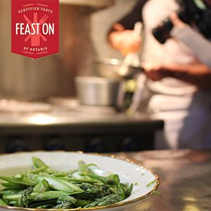 #FeastON Chef Fabio Bondi of Local Kitchen and Wine Bar in Parkdale, Toronto, prepares Ontario asparagus for #LocalDishTO. See the full recipe: