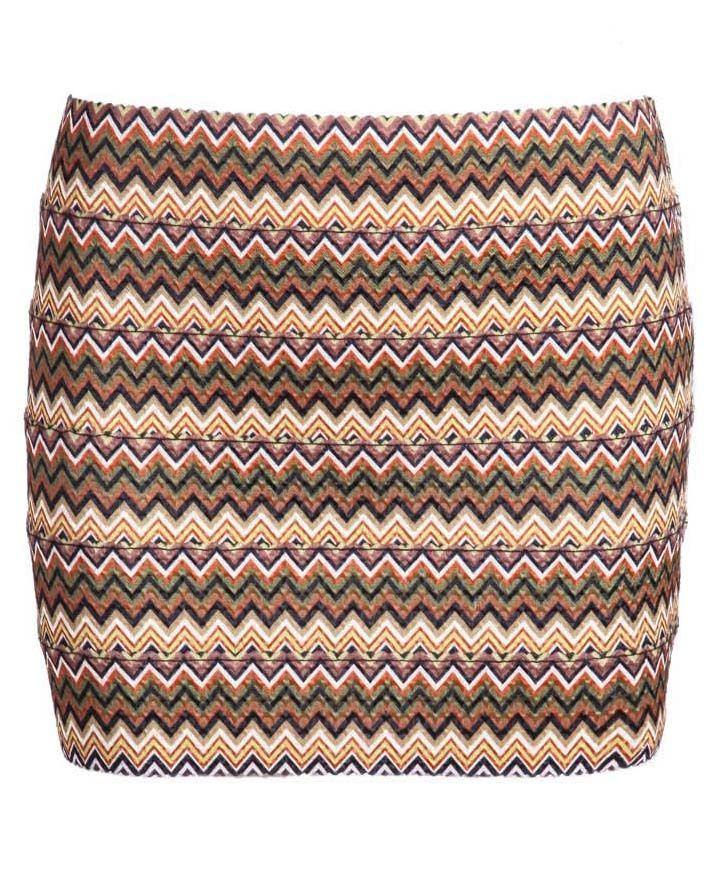 Khaki Striped Bodycon Skirt 13.50