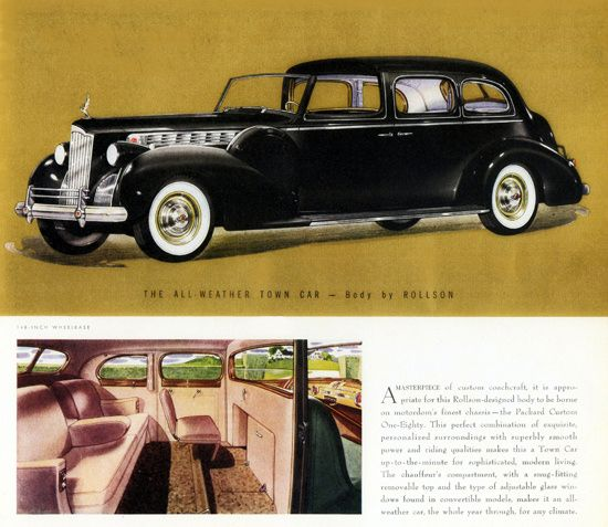 packard super 8 all weather town car rollson 1940 mad men art vintage ad art collection. Black Bedroom Furniture Sets. Home Design Ideas