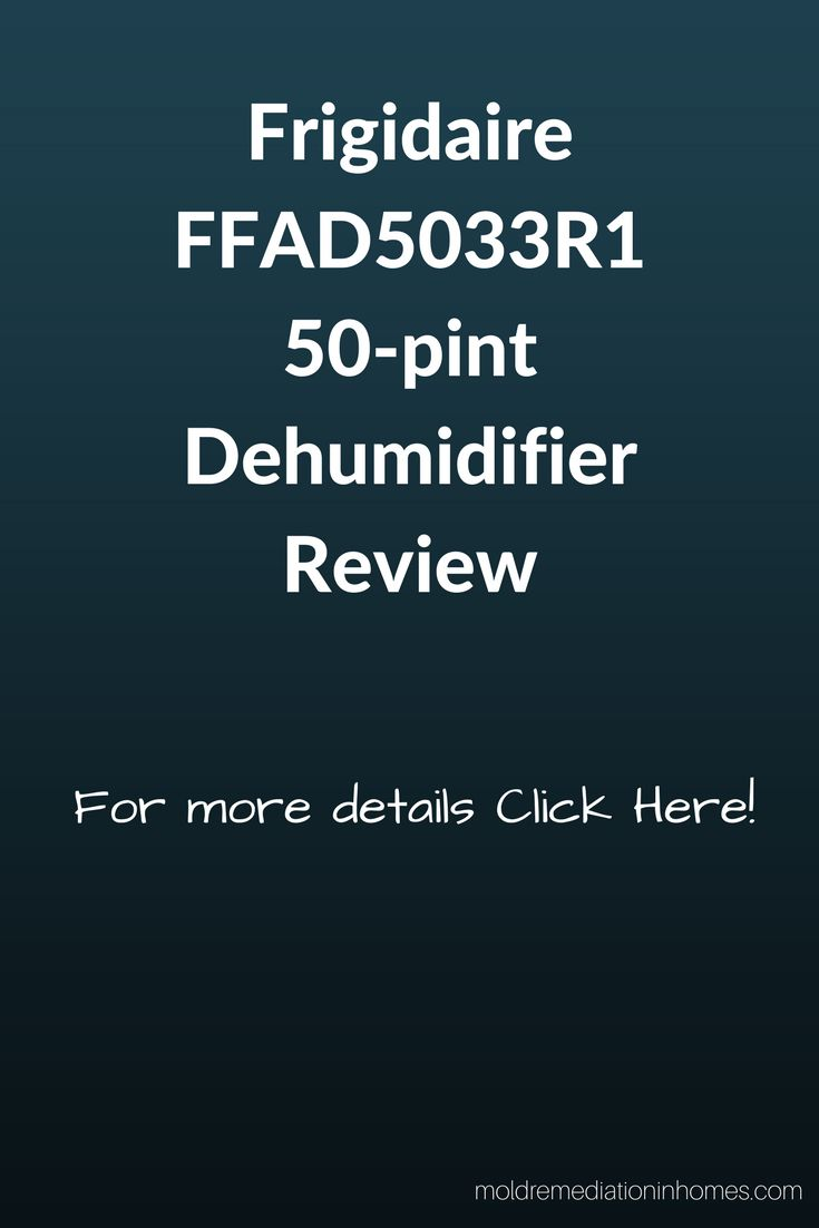 This dehumidifier is Awesome!  You won't be dissatisfied with this Frigidaire FFAD5033R1 50-pint Dehumidifier.  Click the picture to check it out!  #FrigidaireFFAD5033R1-50-pintDehumidifier