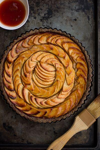Apple Quince Tart with Buckwheat Crust