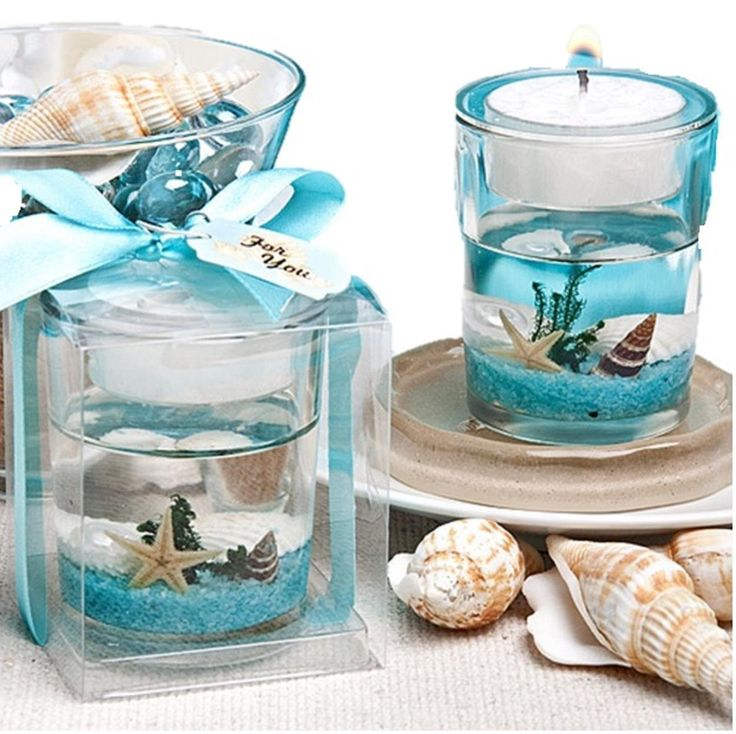 Amazon.com - Fashioncraft Stunning Beach-Themed Candle Favor - Party Favors