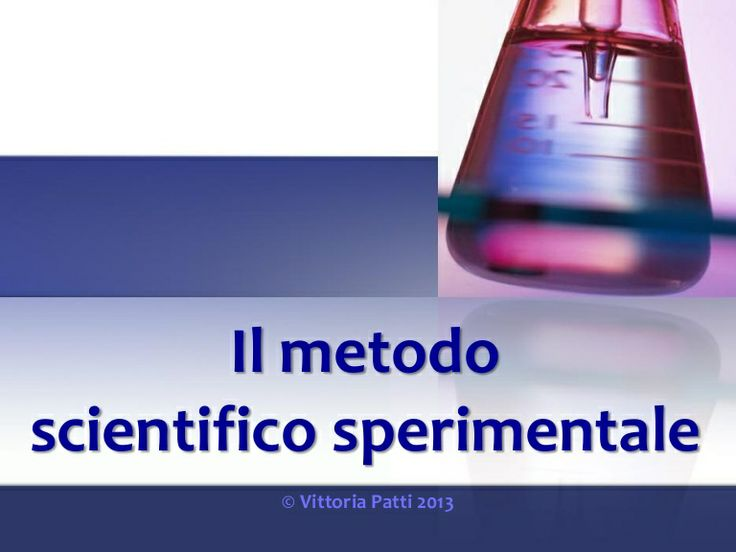 Il metodo scientifico sperimentale by Vittoria Patti via slideshare