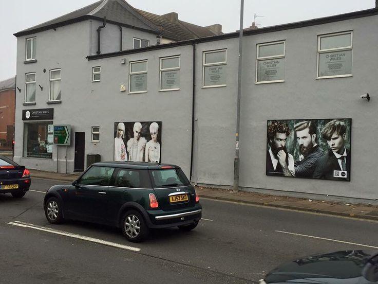 Exterior durable vinyl billboards