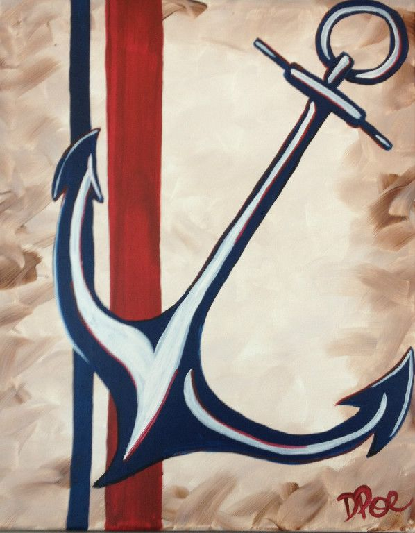 Anchors away canvas painting