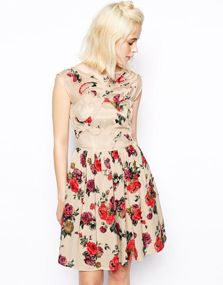 ASOS+Prom+Dress+In+Floral+Print $43