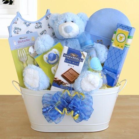 Baby boy gift baskets 25 pinterest baby boy metal tub gift basket negle Gallery