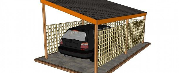 Wooden Carport Plans - Awesome once the side trellis' are filled with plants.