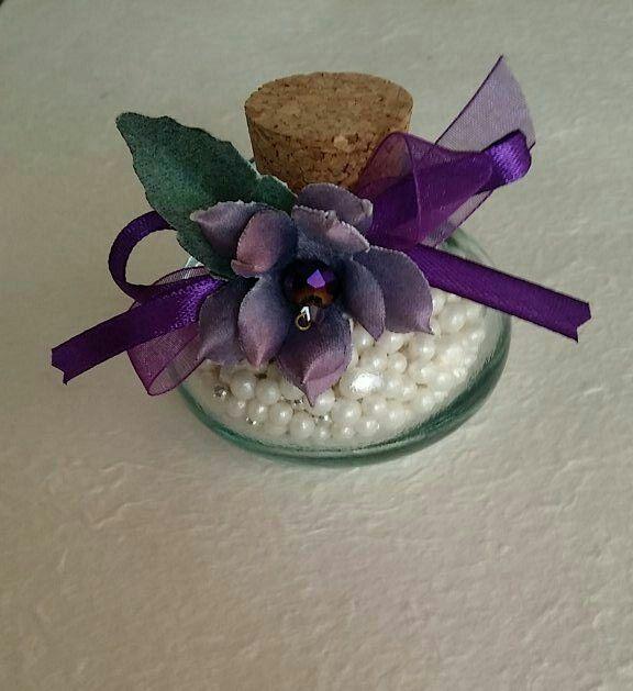 Ampolla con fiorellino forme tessili 3d ..