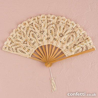 Antiqued Lace Hand Fan