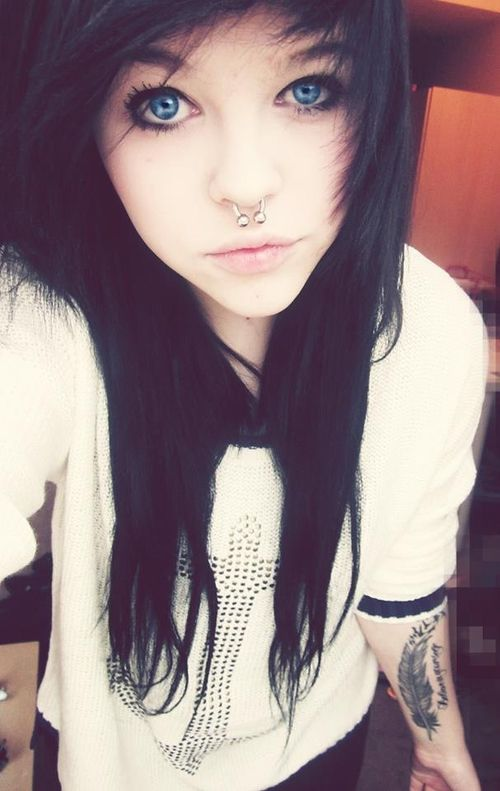 All? Beautiful emo girls with black hair