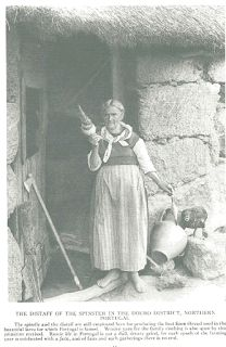 The distaff of the spinster in the Douro District, Northern Portugal, National Geographic 1919