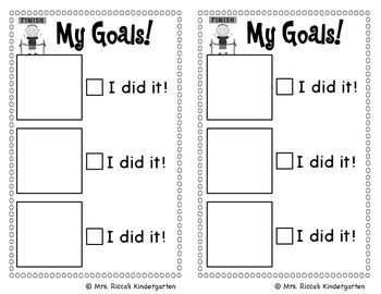 This checklist makes setting and tracking goals simple for kids! I have included 70 goals...including math, reading, and other skills! This set includes 3 choices of goal checklists (1, 2, or 3 goals). You can choose to give students a goal sheet weekly, monthly, etc.